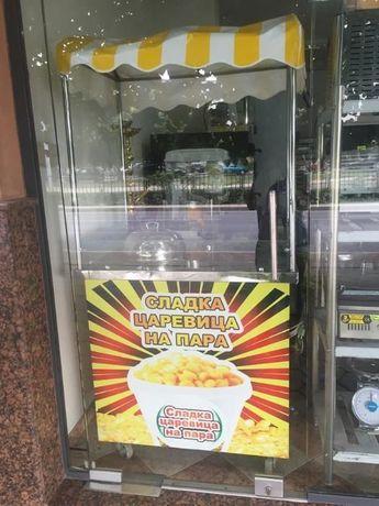 1.Количка за машина за захарен памук Модел: - Мощност: - Размер: 900х9
