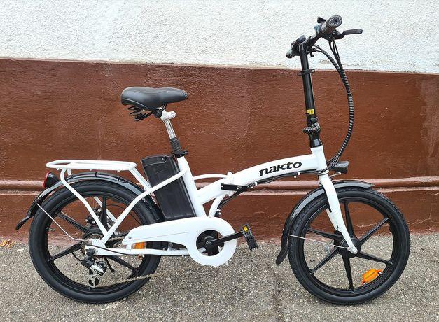 Bicicleta Electrica Pliabila 350W Shimano 6V magneziu 30 km/h