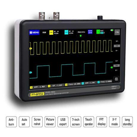 ANIMABG двуканален 2 х 100MHz портативен цифров осцилоскоп 1GSa/s