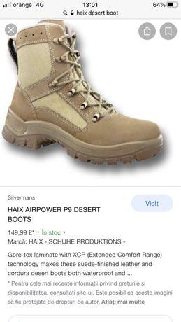 Bocanci militari HAIX, Airpower P9 desert boots, marimea 44