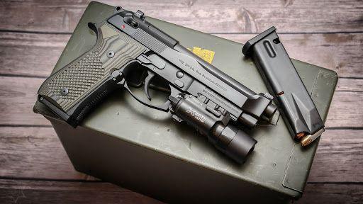 PISTOL TARE! Pistol Airsoft Modificat MECANISM Full Metal Beretta FS9