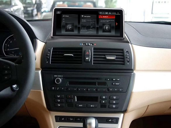 Навигация Android 10 4GB RAM BMW X3 E83 БМВ Е83 Андроид 2006-2009