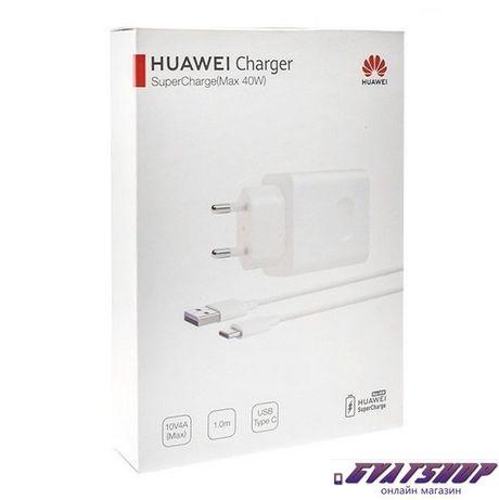 Оригинално Зарядно TYPE-C Huawei HW-100400E00 Super Charge 4A + USB ty
