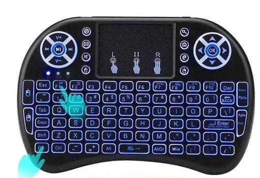 Светеща Безжична Мини клавиатура с Тъчпад ТV BOX, TV, Компютър,Лаптоп