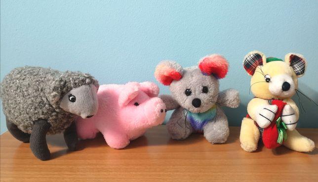Jucării de pluș mici porc, oaie, șoareci; medii, cerb/ren