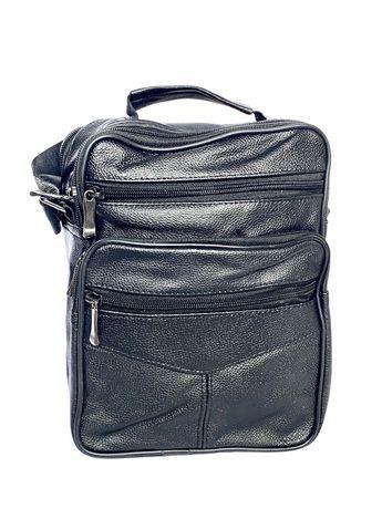 НАМАЛЕНА ! Луксозна мъжка кожена чанта от телешка кожа Medium размер -