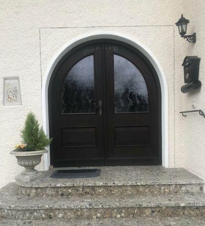 Usa casa vila firma intrare traditionala boltita lemn H 220 x L 200