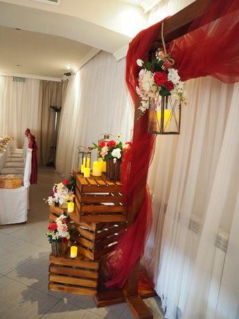Дървена щайга на сватбата вместо китайска кошница!