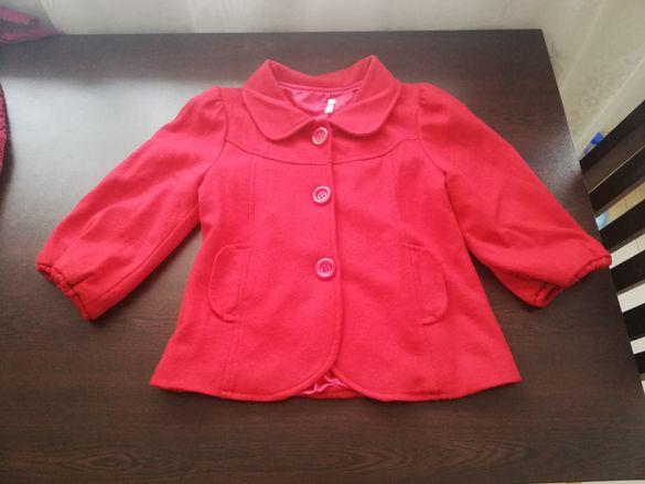 Дамско червено палтенце