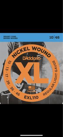 Струны D'addario 10-46 nickel wound