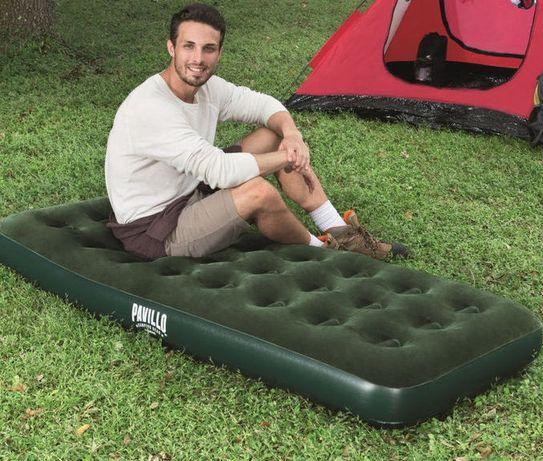 Матрас фирменный надувной новый в упаковке размер 190 см на 80 см