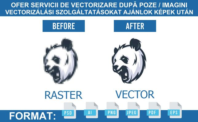 Ofer servicii de vectorizare după POZE / IMAGINI