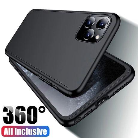 Кейс 360° градуса мат за Iphone 11 /11 Pro / Pro Max + стъклен протект