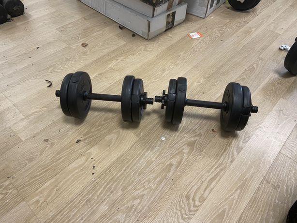 Gantere reglabile noi set de 10 kg ambele 5+5=10 kg pret 120 ron setul