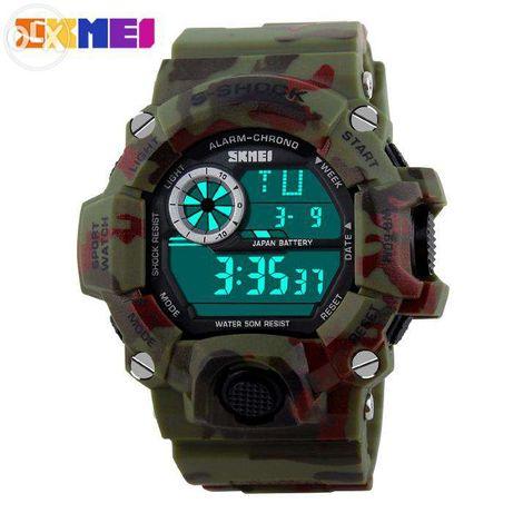 Ceas Subacvatic SKMEI S-Shock Camouflage MILITARY ARMY Rosu/Verde