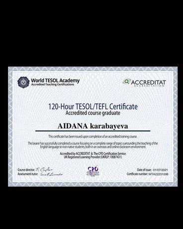двойной сертификат TESOL/TEFL для учителей английского языка