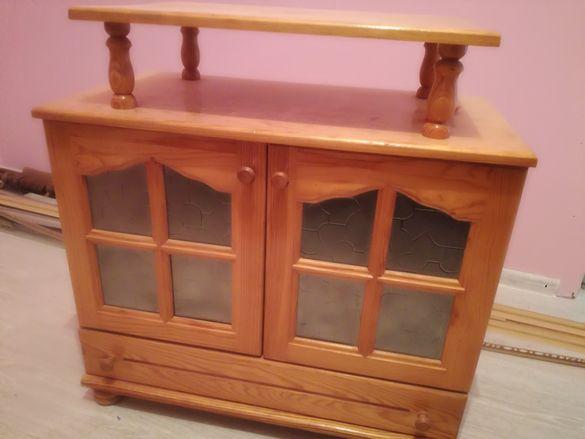 Масивен дървен тв шкаф