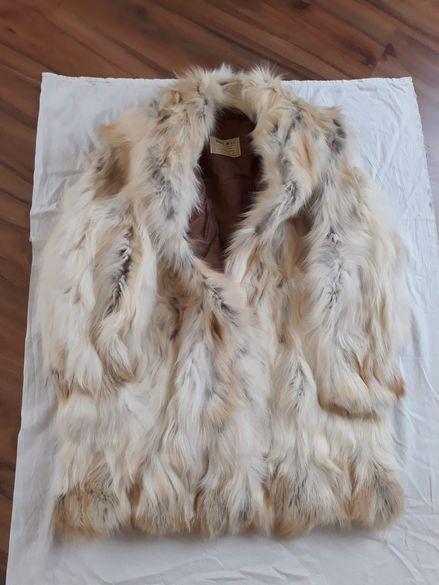 Чисто ново дамско палто естествен косъм-М размер