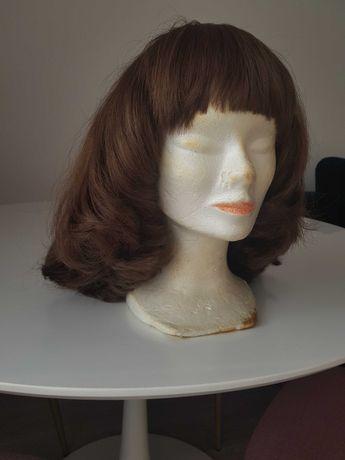 Peruca lungime medie, păr natural