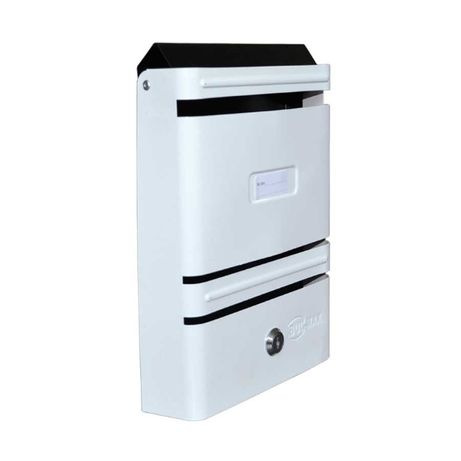Метална пощенска кутия PREMIUMFIX, вертикална с 1 отвор, Бяла
