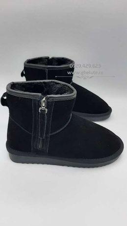 Ghete / cizme UGG mini clasic zip, piele NATURALA,35 la 40