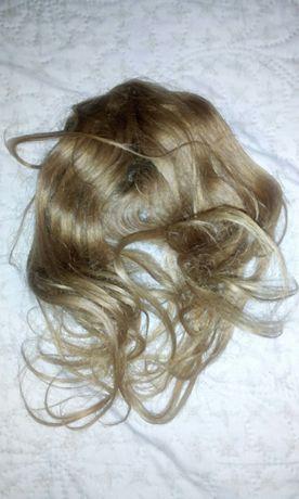 Два шиньёна волосы НАСТОЯЩИЕ для наращивания длины и объёма причёски .