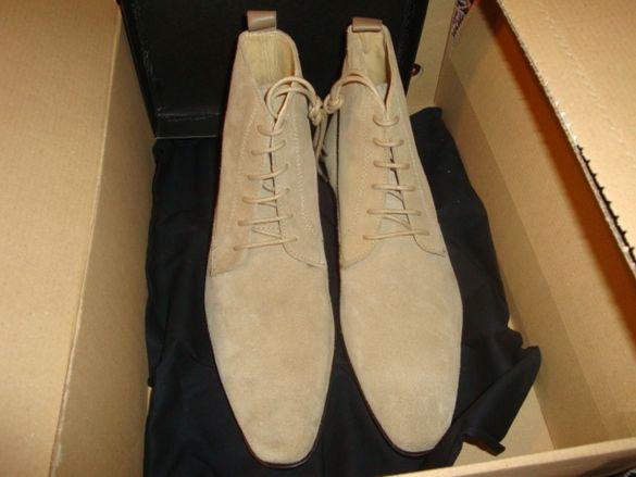 Zing -стилни мъжки обувки от естествен велур