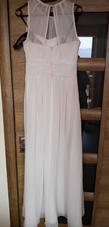Разкошна бяла рокля на Swing, размер 34/xs