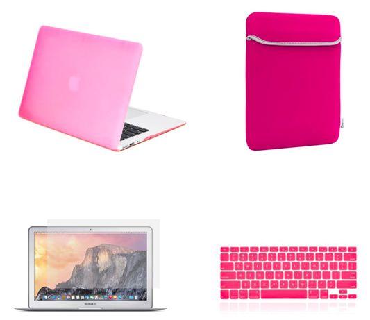 Carcasa Protectie plastic pt Macbook A1932 A1466 A1369 A1707 A1990 roz
