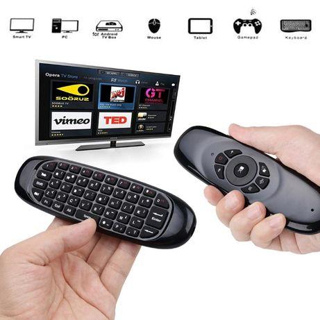 Дистанционно за телевизор с мишка и клавиатура, air mouse/въздушна миш