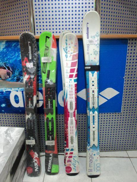 Новые горные лыжи для детей ELAN, разные модели, ростовки 90 и 100 см