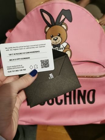 Rucsac Teddy Moschino Pink