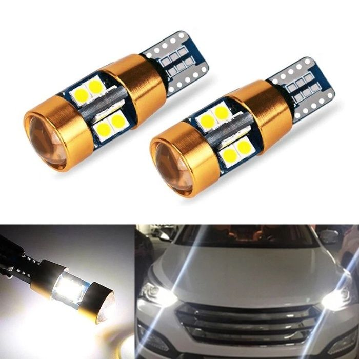 Bec led canbus w5w, alb pur 6000k -led 3030, 22 smd Gold Edition 2021