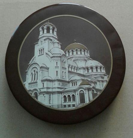 """Метална кутия с изображение на катедрала """"Св.Ал.Невски""""-София"""