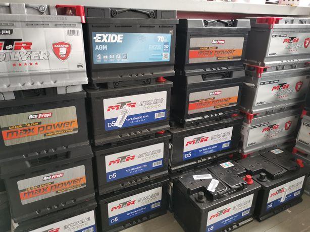Baterie acumulator auto 74 Ah  680a  nou, garanție și montaj pe loc
