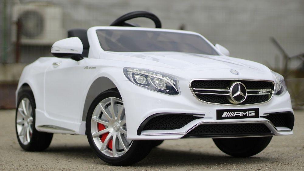 Masinuta electrica pentru copii Mercedes S63 2x 35W 12V #Alb Braila - imagine 1