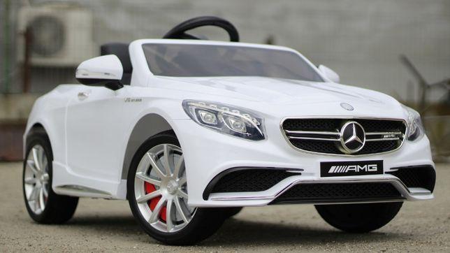 Masinuta electrica pentru copii Mercedes S63 2x 35W 12V #Alb