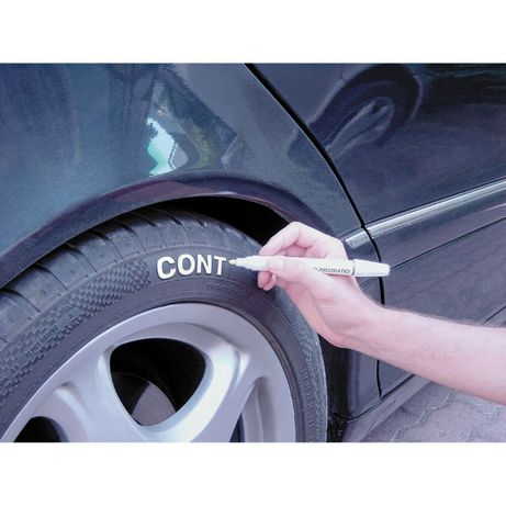 Бял маркер за гуми, водоустойчив маркер