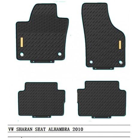 4 бр. гумени стелки за VW SHARAN ,SEAT ALHAMBRA 2010 ФВ ШАРАН