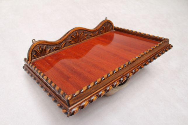 Etajera lemn masiv/Sculptata Manual/Vintage