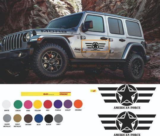 American force стикер /американска сила стикер / jeep wrangler ford