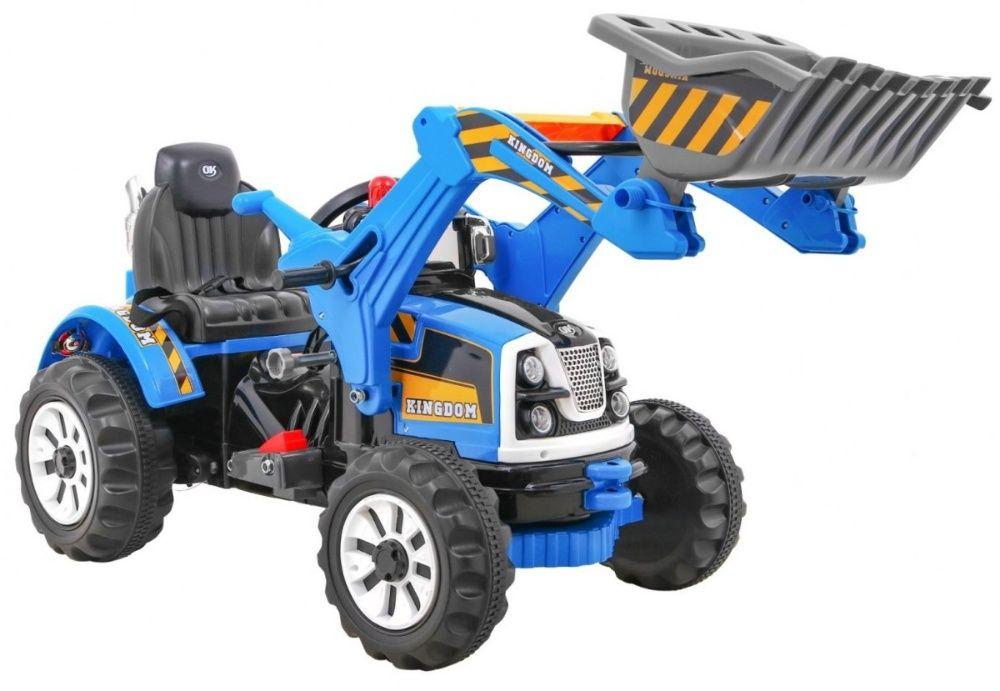 Tractor electric pentru copii cu cupa (328) Albastru Bucuresti - imagine 1