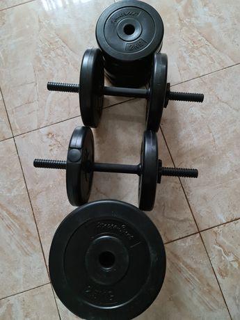 Set gantere reglabile 2×20kg