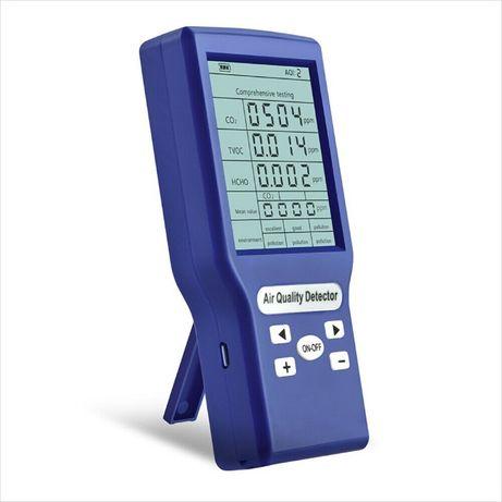 детектор за качеството на въздуха Въглероден диоксид CO2 TVOC HCHO AQI