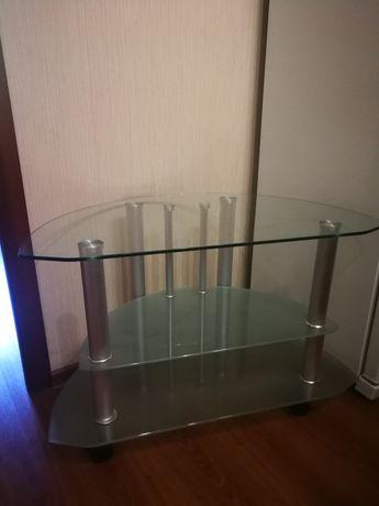 СРОЧНО!!! Продам тумбу стеклянную под телевизор.