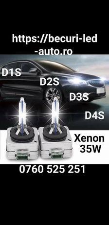 Becuri Xenon/Bixenon D1S,D2S,D2R,D3S,D4S( 6000K-35W) Calitatea Premium