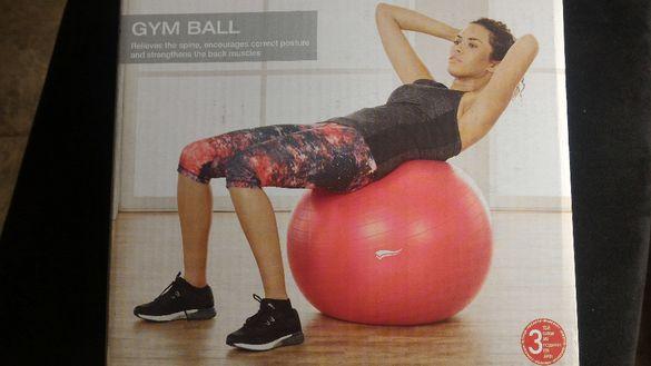 Здрава фитнес топка за тренировки 65 cm