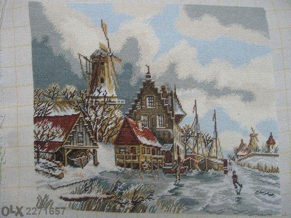 "гоблен ""зима в Ротердам"""