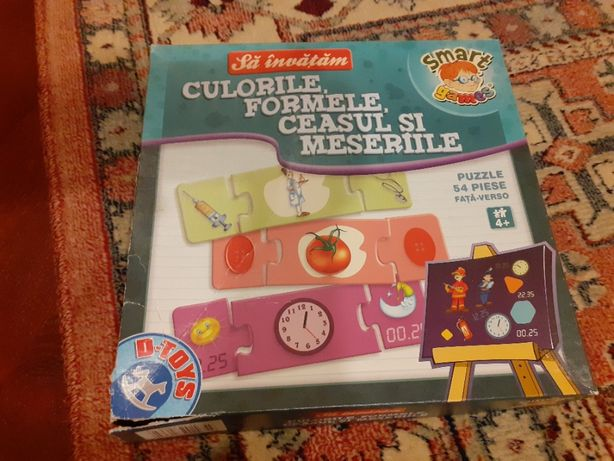 joc tip puzzle d toys meserii , culori , ora