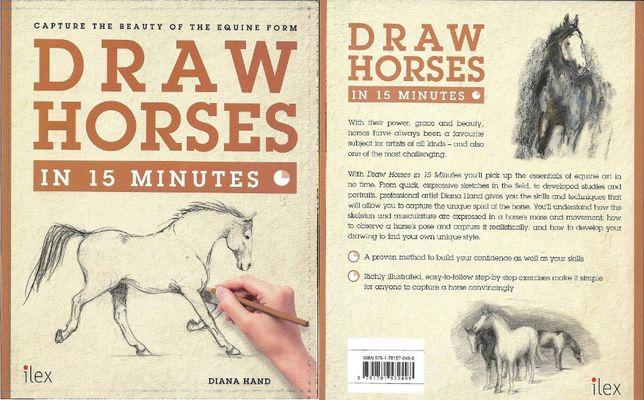 Super carte de desen Draw HORSES in 15 minutes, cum sa desenezi CAI